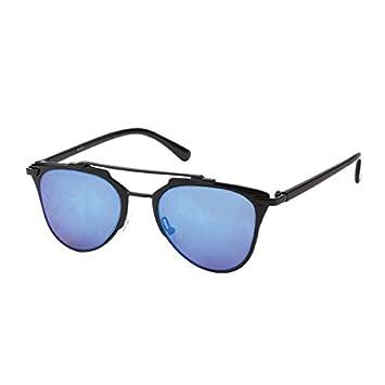 Sonnenbrille Panto 400 UV verspiegelt bunt transparent Schlüssellochsteg rosa 3XP2a