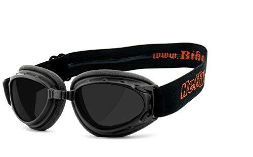 HELLY® – No.1 Bikereyes®   Motorradbrille, Bikerbrille   winddicht, gepolstert, beschlagfrei, HLT® Sicherheitsglas nach…