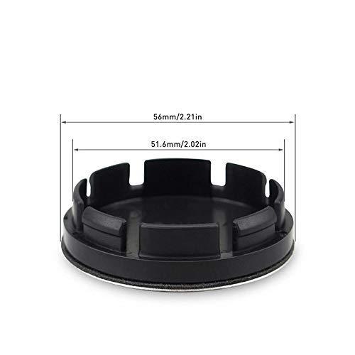 4Pcs 56mm OZ Racing Car Wheel Center Hub Cap Badge Aluminium Logo Black