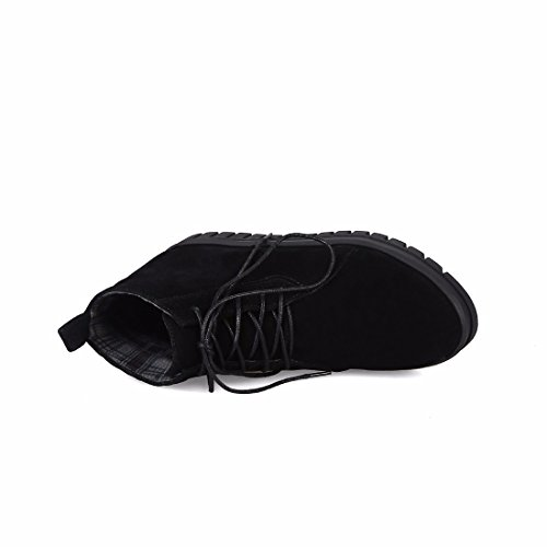 Et Chaussures Avec Code Hiver Automne Velours Martin Noir femmes Bottine Le Rff En Bottes De Gommage q15tnx