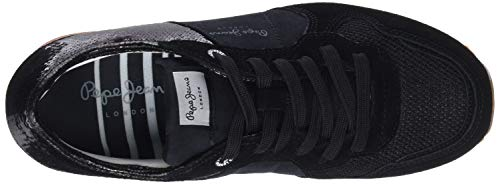Nero Scarpe Ginnastica Jeans Donna black New Basse Pepe Verona W 2 Da Sequins 999 Sq4YPxR