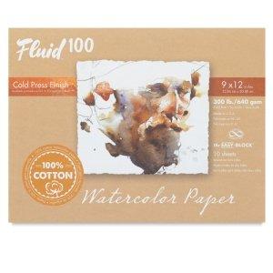 300 Lb Cold Press - Handbook Paper Fluid 100 Watercolor Cp 300Lb Ez-Block 16X20