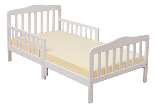 (Furniture World Madison Toddler Bed, White)