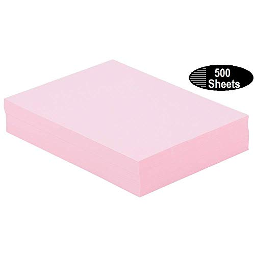 - 1InTheOffice Colored Copy Paper, Pink, 8.5 x 11 inch Letter Size, 20lb Density, (500 Sheets)