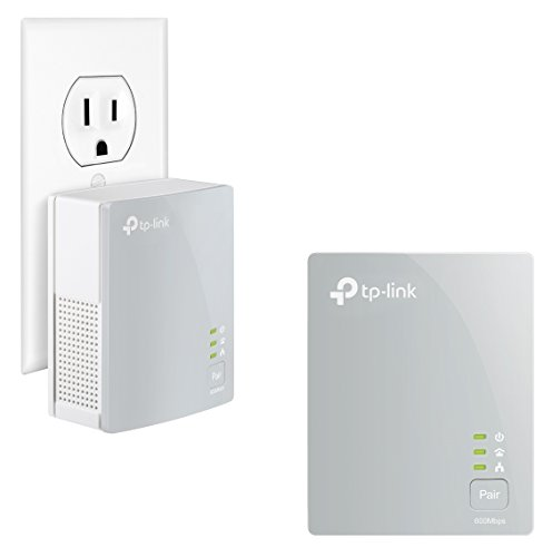 TP-Link AV600 Nano Powerline ethernet Adapter Starter Kit, Powerline speeds up to 600Mbps (TL-PA4010KIT) (Home Network Kit)