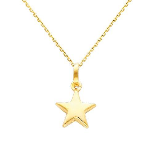 Oval Star Pendant - 8