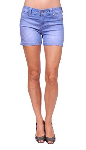 Celebrity Pink Jeans Women Middle Rise Stretchy Shorts Jeans with Welt Coin Pocket 9 Medium Denim (Welt Pocket Denim)