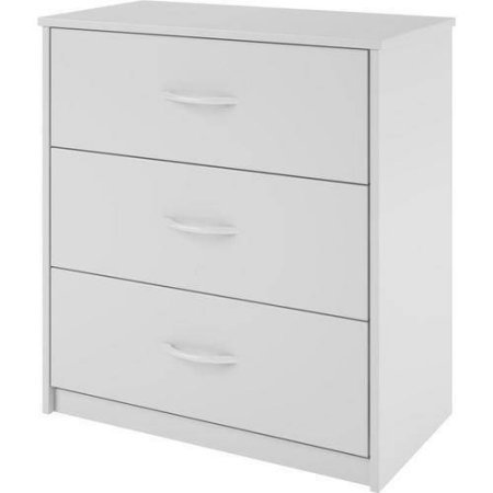 Mainstays 3-Drawer Dresser, Modern, Contemporary look, White by Mainstay