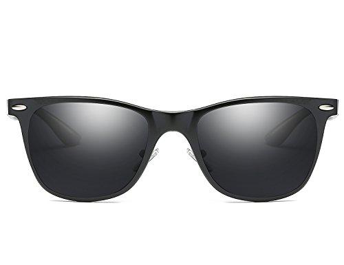 Polarisé Mg Homme léger Vintage Lunette Noir de Sports Lunettes Al Unisexe Anti Super Cadre en Soleil métal UV Bmeigo HISpx
