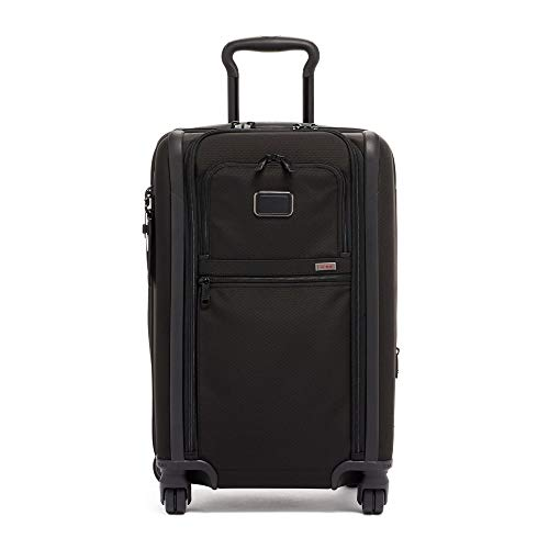 TUMI - Alpha 3 International Dual Access 4 Wheeled Carry-On Luggage - 22 Inch Rolling Suitcase for Men and Women - Black
