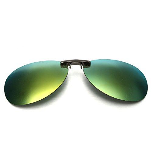 MIGICSHOW Sunglasses Polarized Clip Sun Glasses Driving Night Vision Lens