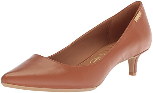 Calvin Klein Women's Gabrianna Pump, Cognac, 9 Medium us