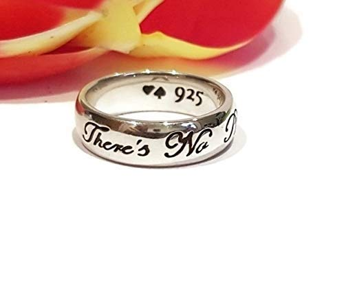 The Wizard of Oz Ring There's No Place Like Home L. Frank Baum Quote Sterling Silver Ring