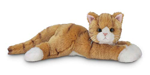Bearington Tabby Plush Stuffed Animal Orange Striped Tabby Cat, Kitten 15 inches