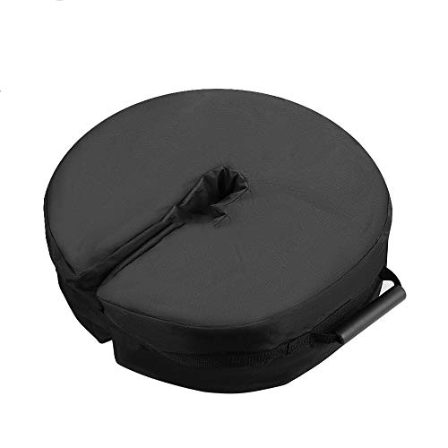 ReFaXi Portable Tent Fixed Sandbag Outdoor Canopy Display Shed Windproof Bag Set (Round Black)