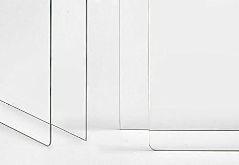 Spritzschutz transparent K/üche K/üchenr/ückwand Glas Sicherheitsglas durchsichtig Herd Sp/üle Wanddeko mit Klemmhalterungen Wall-Art 100x70 cm