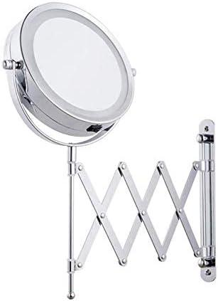 メイクアップライト壁付きミラー拡大鏡化粧品を両面アジャスタブルダブルを回転さ6インチ1X / 3X 360をマウント
