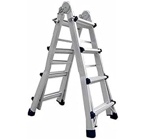 Escalera de aluminio multiusos Codiven 4x4 8+8 escalones: Amazon.es: Bricolaje y herramientas