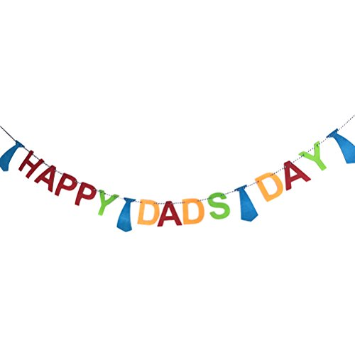 Decorations Fathers Day (Happy Father's Day Bunting Banner Daddy's Day Party Decorations Backdrop Garland for Father's Day)
