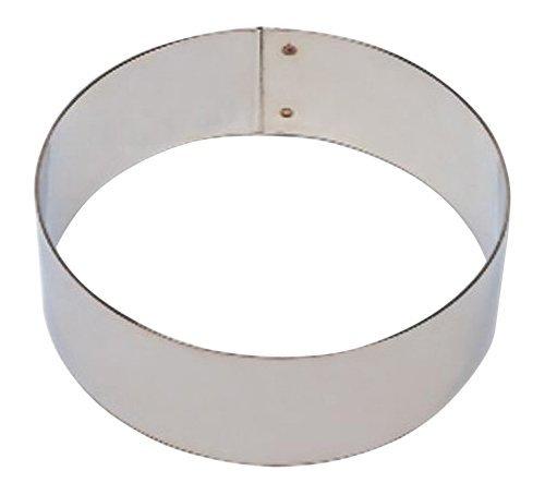 Matfer Bourgeat 371211 Flan Ring, Silver