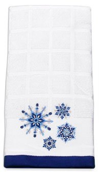 Ritz Snowflake Cobalt Terry Kitchen Towel