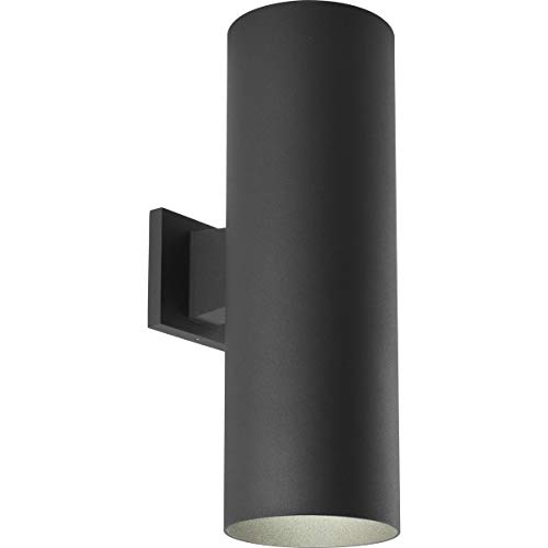 Progress Lighting P5642-31 6-Inch Up/Down Cylinder with Heavy Duty Aluminum Construction and Die Cast Wall Bracket, Black