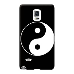 Hard Protect Phone Cases For Samsung Galaxy Note 4 (yrw828NdzO) Support Personal Customs Trendy Ying Yang Image