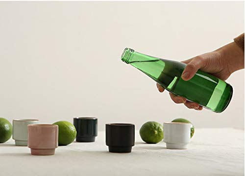 5 Piece Handmade Ceramic Pottery Porcelain Traditional Sake Soju Cup Shot Glass. Traditional Handcrafted Hand Painted Design