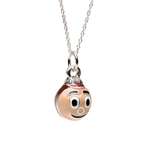 Ohio State Necklace | Ohio State Buckeyes Brutus Charm Pendant Necklace | Officially Licensed Ohio State Jewelry | Ohio State Gifts | OSU Jewelry | Stainless Steel