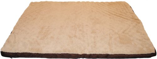 Brinkmann Pet Fleece and Nylon Orthopedic Pet Bed, 30-Inch-by-40-Inch, Brown, My Pet Supplies