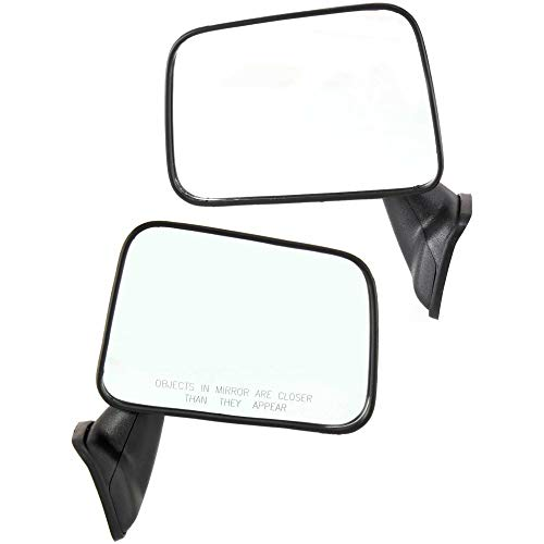 (Manual Mirror compatible with Toyota Pickup 87-88/4Runner 87-89 Right and Left Side Manual Folding Non-Heated Textured Black)