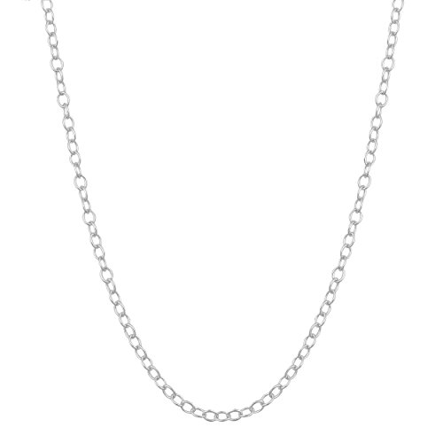 - Sterling Silver 1.3mm Open Cable Chain (30 inch)