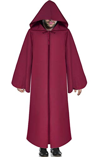 Soo Angeles Halloween Hooded Cloak Medieval Knight Robe