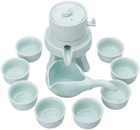 日本茶・茶道道具 陶磁器のカンフーのお茶セット石造りの製造所のティーポットのティーカップ茶磁器 ティー用品 (Color : Green)