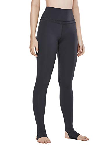 CRZ YOGA Women's Naked Feeling High Waist Stirrup Leggings Sports Yoga Tights- 28 Inches Black M(8/10)