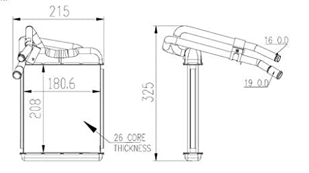 313XQR17n9L._SX450_ amazon com new hvac heater core front fits chevrolet 95 97 blazer