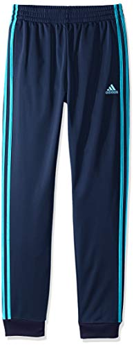 adidas Boys' Big Tricot Jogger Pant, Imapact Collegiate Navy/Shock Cyan, M (10/12)