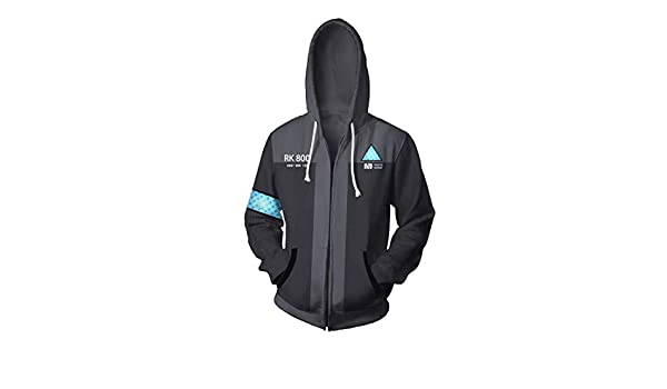 Rulercosplay Game Hoodie for Detroit Become Human Connor Cosplay Costume