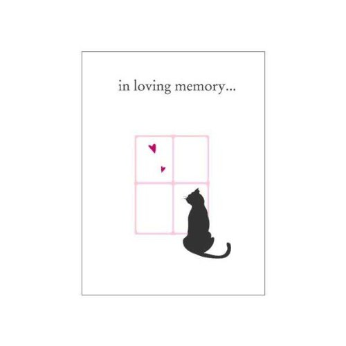 Luxepets In Loving Memory Cat Sympathy Cards, 4-Pack