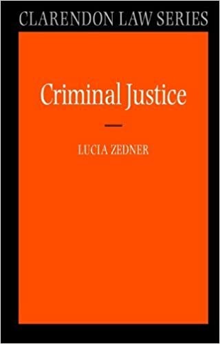 Book Criminal Justice (Clarendon Law Series) 1st edition by Zedner, Lucia (2004)