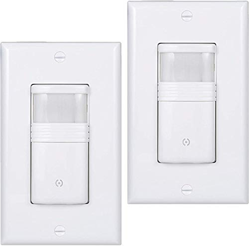 (Pack of 2) White Motion Sensor Light Switch