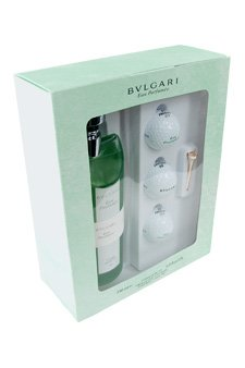 Bvlgari Au The Vert by Bvlgari for Men - 6 pc Gift Set 11.9oz eau parfum, 3 golf balls, silver tee and tee - Silver Bvlgari