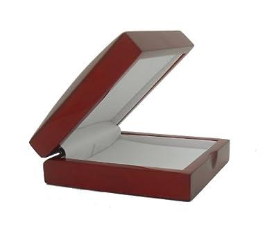 Amazoncom Cherry Wood Pendant Gift Box Jewelry Boxes Jewelry