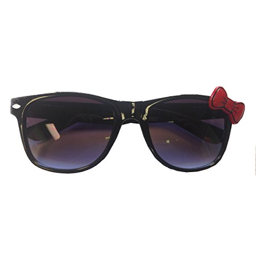 My Party Shirt Black Sunglasses with Red Bow Hello Kitty Nerd Accessory Adult