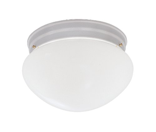 "Flush Mount Finish / Size: White / 5.25"" H x 9.5"" W -  Designers Fountain, 4732-WH"