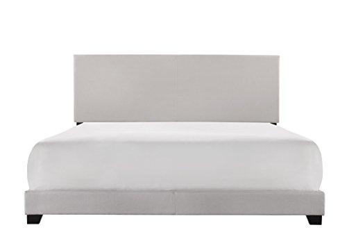 Crown Mark Upholstered Panel Bed in Stone Khaki, King