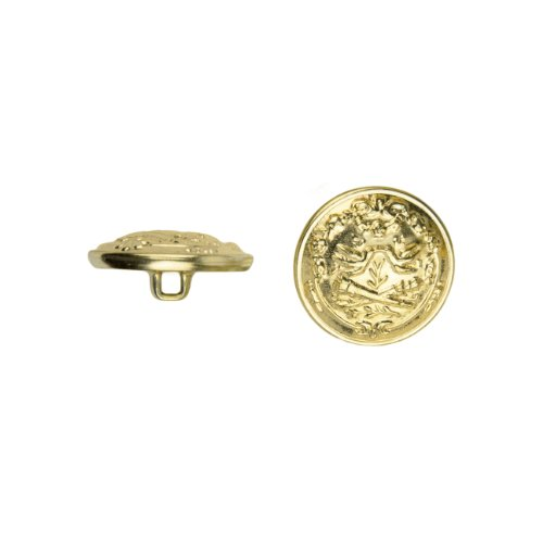 (C&C Metal Products 5026 Dueling Knights Metal Button, Size 36 Ligne, Gold, 36-Pack)