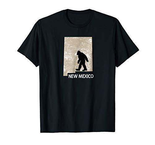 Bigfoot Hunter New Mexico Funny Boy Tee Men State T shirt (Womens T-shirt Sleeve Cap Mexico)