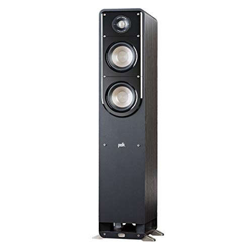 Polk Signature Series S50 Floor Standing Speaker - American HiFi Surround Sound for TV, Music, and Movies | Stylish Looks, Big Sound | Bi-wire and Bi-amp | Detachable Magnetic Grille included ()