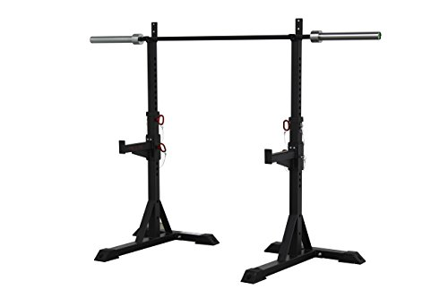 CFF Heavy Duty Squat Stands, 1000-Pound Capacity